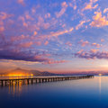 Majorca Muro beach sunrise Alcudia Bay Mallorca Royalty Free Stock Photo