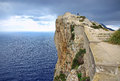 Majorca northern cliff in the north coast of spain Royalty Free Stock Images