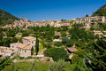 Majorca village rooftops Stock Images