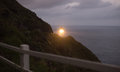 Makapuu lighthouse southwest shore oahu hawaii nautical maritim this sends a beam of light out to the pacific ocean for miles away Stock Photo