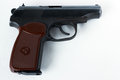 Makarov pistol.  on a white background Royalty Free Stock Photo