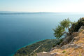 Makarska riviera view of croatian coastline from biokovo mountain Royalty Free Stock Photos