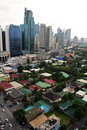 makati city metro manila cityscape philippines Royalty Free Stock Photo