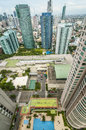 Makati s towering condominium high rise condominum building in philippine Stock Image