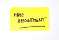 'Make Appointment' written on a sticky note Royalty Free Stock Photo