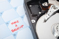 Make a backup reminder Royalty Free Stock Photography