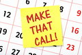 Make That Call! Royalty Free Stock Photo