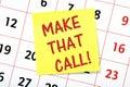Make That Call! Royalty Free Stock Photo