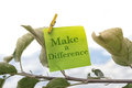 Make a Differance Royalty Free Stock Photo