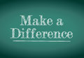 Make a difference message written on blackboard Stock Image