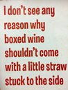 Make a fun about people who buy boxed wine