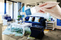 Make home more comfortable by repainting and full of color Royalty Free Stock Image