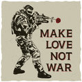 Make Love Not War Poster Royalty Free Stock Photo
