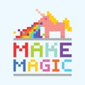 Make magic unicorn illustration Royalty Free Stock Photo