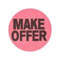 Make offer garage sale sticker Royalty Free Stock Photo