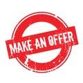 Make An Offer rubber stamp