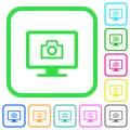 Make screenshot vivid colored flat icons Royalty Free Stock Photo
