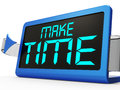 Make Time Clock Shows Scheduling And Planning Royalty Free Stock Photo