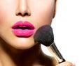 Make-up Applying closeup