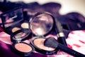 Make up brushes and blush Royalty Free Stock Photo