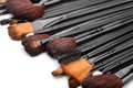 Make up brushes close of professional Royalty Free Stock Photos