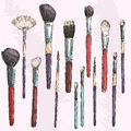 Make Up Brushes Collection. Fa...