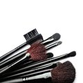Make up brushes isolated on white background Stock Photos