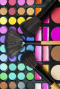 Make up brushes and make up palette