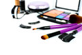 Make up cosmetic and brushes isolated Royalty Free Stock Photo