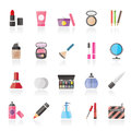 Make-up and cosmetics icons Royalty Free Stock Photo
