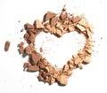 Make up crushed powder Royalty Free Stock Photo