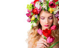 Make up and femininity fragrance of spring Stock Photo