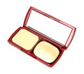 Make-up powder in box Stock Photo