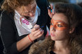 Make up session galati romania november in national student fashion festival extravagance on november in galati romania Stock Image