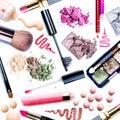 Make-up Set. Collage Stock Image