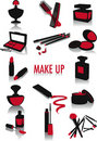 Make-up silhouettes Royalty Free Stock Photo