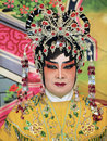 Make up style of chinese opera ubon ratchathani thailand – nov unidentified woman with traditional in annual cerebration Stock Images