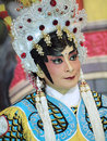Make up style of chinese opera ubon ratchathani thailand – nov unidentified woman with traditional in annual cerebration Royalty Free Stock Image
