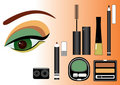 Make up.Vector cosmetics Royalty Free Stock Images