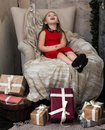 Make a wish at Christmas holiday Royalty Free Stock Photo