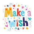 Make a wish Royalty Free Stock Photo