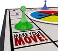Make Your Move Board Game Piece Action Forward Turn Royalty Free Stock Photo