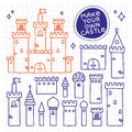 Make your own castle hand drawn doodle tower vector Royalty Free Stock Photo