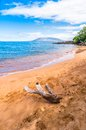 Makena beach i maui hawaii Royaltyfria Bilder