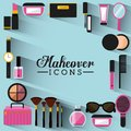 Makeover female design vector illustration eps graphic Stock Photography