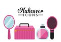 Makeover female design vector illustration eps graphic Royalty Free Stock Image