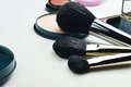 Makeup accessories closeup of women kit Royalty Free Stock Photography