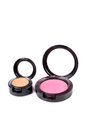 Makeup blusher kits beautiful shot of on white background Royalty Free Stock Image