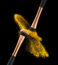 Makeup Brush Powder Explosion Royalty Free Stock Photo
