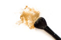 Makeup brush and powder Royalty Free Stock Photo